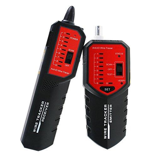 Wire Tracker Locator Wire Sortierung Jagd Circuit Status Überprüfung Tracing STP UTP Netzwerk Telefon Coax Kabel RJ45 RJ11 BNC Tester Finder mit kompletten AC-Interferenz Ablehnung Fehler Locator Kabel (Wire Locator)