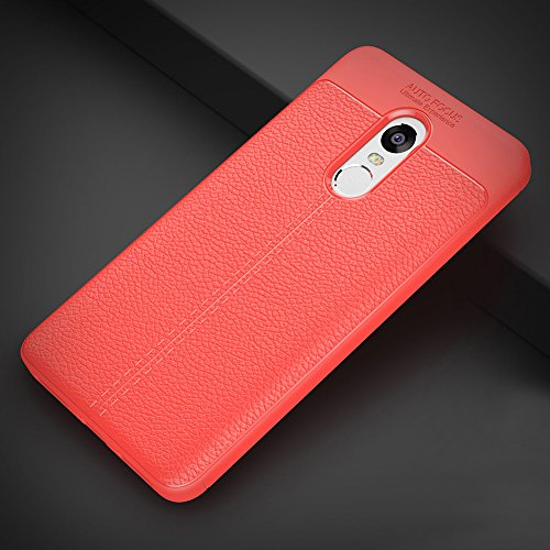 Coque Xiaomi Redmi Note 4X, MSVII® Anti-Shock Silicone TPU Souple Coque Etui Housse Case et Protecteur écran Pour Xiaomi Redmi Note 4X - Rouge / RED JY90054 Rouge