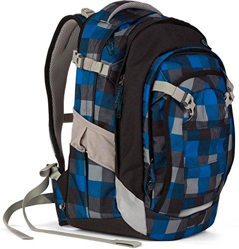 5ba6619071df6 Satch Schulrucksack-Set 3-tlg Match Airtwist 911 karo blau grau -  schultasche.im-shop.eu