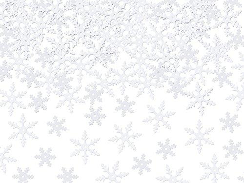 hneeflocken in weiß 7 Gramm Tischdekoration Dekoration Party Streudeko Deko Dekor Feier Partydeko Tischdeko Basteln ()