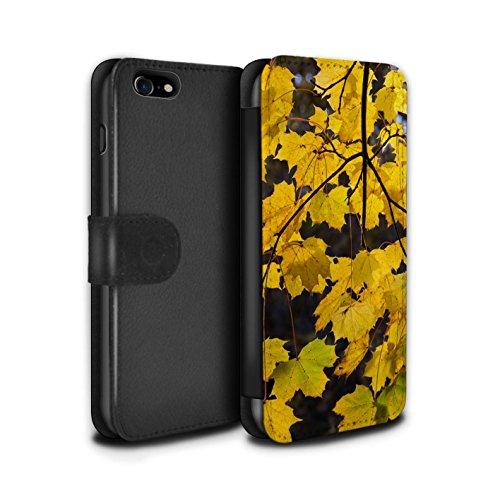 Stuff4 Coque/Etui/Housse Cuir PU Case/Cover pour Apple iPhone 8 / Feuilles Design / Automne Saison Collection Branche Suspendus