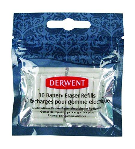 Derwent 2300023 - Gomas de recambio para borrador a pilas, color blanco
