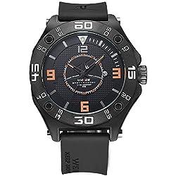 Alienwork Sport Quartz Watch Outdoor Wristwatch XXL Oversized Polyurethane black black OS.UV1502-6