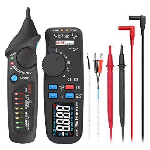 BSIDE Haushalts-Schaltkreis-Tester, Set mit Farbdisplay, digitales RMS-Multimeter und berührungsloser Spannungsprüfer, Steckdose, Steckdose Multimeter Berührungslose Spannungsdetektor