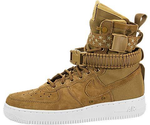 Nike Damen W Sf Af1 Sneakers, Mehrfarbig Muted Bronze/White 001, 39 - Damen Schuhe Nike Bronze
