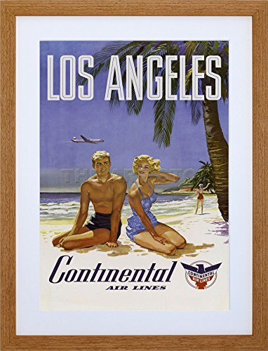 9x7-los-angeles-continental-airline-tropical-ad-framed-art-print-f97x1255