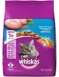 Whiskas Adult Cat Food Pocket Ocean Fish, 3 kg Pack