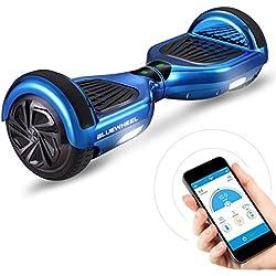 """6.5"""" Gyropode Bluewheel HX310s Smart APP Self Balance Scooter Board, Marque Allemande avec Norme UL2272, Mode sécurité Enfant, Skateboard électrique, Bluetooth (HX310s Bleu Chrome)"""