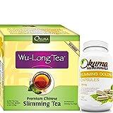 Premium 2 Pack - Premium chinesischer Schlankheits-Wulong-Tee mit schlankmachenden Oolong-Tee-Kapseln - HOHE KONZENTRATION - Gewichtsverlust & Appetitzügler - 60 Teebeutel & 60 Kapseln