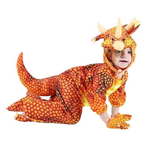 LOVEPET Halloween-Weihnachtsdinosaurier-Kleidung Kind Tyrannosaurus Rex Cosplay Kleidung Kindergartenleistungskleidung Party Requisiten Orange (Halloween-kostüme Alte Tv-shows)