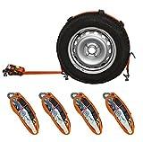 4x Spanngurt AUTO TRANSPORT Zurrgurt Radsicherung PKW KFZ Autotransportgurt Reifengurt (15)