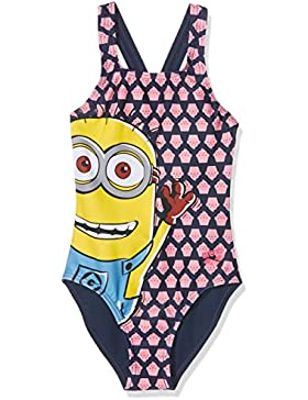 Arena G Minions Tom Jr, Costume Intero Bambina, Multicolore, 14-15