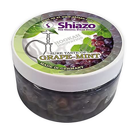 125g authentique Shiazo Pierres pour plantes Vert Raisin Saveur Lot de pierres à chicha Narguilé