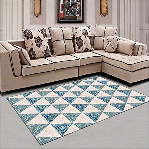 AWLLY Einfach Geometrischer Teppich Kristallweiches Gewebe Gedrucktes Anti-Rutsch-Design Schlafzimmer Wohnzimmer Wohnzimmer Kinderzimmer Dekorationsboden - Gedruckt Badezimmer-teppiche