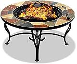 Centurion unterstützt Feuerwehr Santiago Magnificent Garten & Terrasse Heizstrahler Feuerstelle Feuerstelle Feuerschale Couchtisch Grill & Eiseimer mit verrückten Pflastergranitfliesen