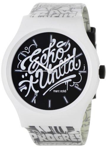 Marc Ecko E06515M1 – Reloj de pulsera para hombre, negro/plata