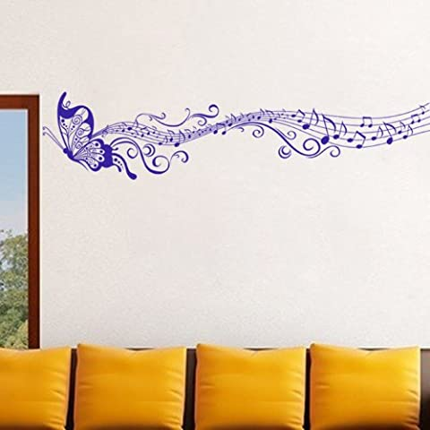 PeiTrade Musique Classique Papillon Adhésif mural Autocollant Autocollant Papier peint Papier peint Autocollant Peinture Autocollant