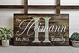 Norma Lily Rustikal Bedruckt Familie Namen Schild Holz Palette Art Home Decor Hochzeit