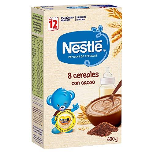 Nestlé - Junior Papillas 8 Cereales Con Cacao A Partir