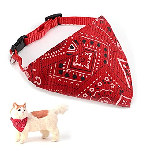 AKORD Adjustable Strap Bandana for Dogs, Small, Red