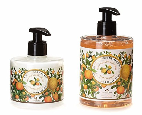 PANIER DES SENS Provence Liquid Marseille Soap and Hand and Body Lotion Set by Panier des Sens - Liquid Soap Set
