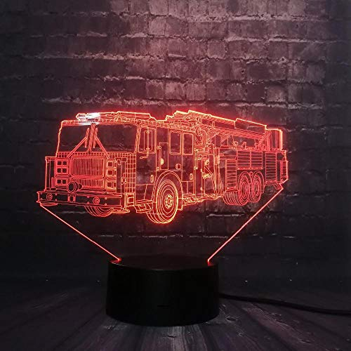 SanQ-Seven Vehicle Car Track Toy for Boy 3D LED Night Light Decor RGB USB lamp Bedroom Sleep Light 7 Color Change, Desk Decoration Lamps Birthday Gift (Plug-in-track-leuchten)