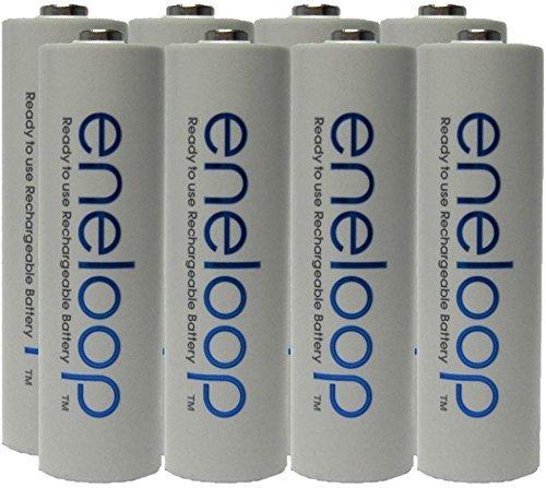 Panasonic Eneloop Juego de 8 baterías AA 1,2V, 1900mAh