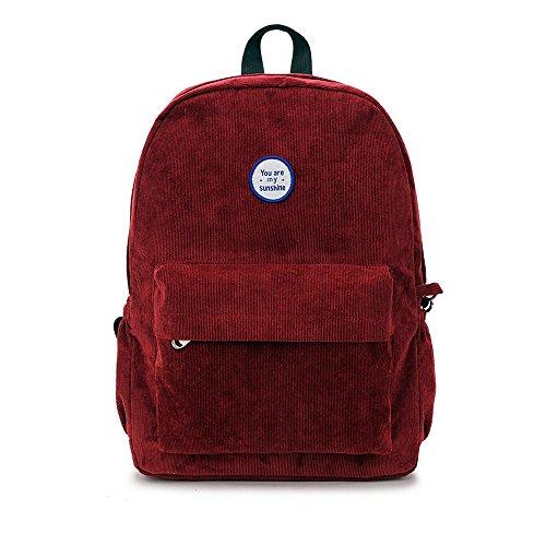 frauen cordhose rucksack handtasche ranzen schultaschen lässig reisen daypacks rucksack reißverschluss schulter bookbags für mädchen Sie Sind Mein Sonnenschein-buch