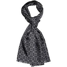 783c64fd2aa Lorenzo Cana Foulard de 50% soie et 50% laine pour l`homme – écharpe  réversible avec les mesures de 30 x 160 cm - attrayant et noble pour le  printemps et ...