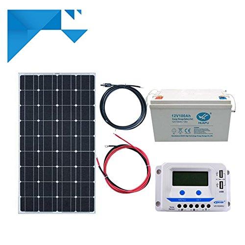 Kit Solaire 150W 12V PWM EPEVER Autonome avec Batterie 1200W