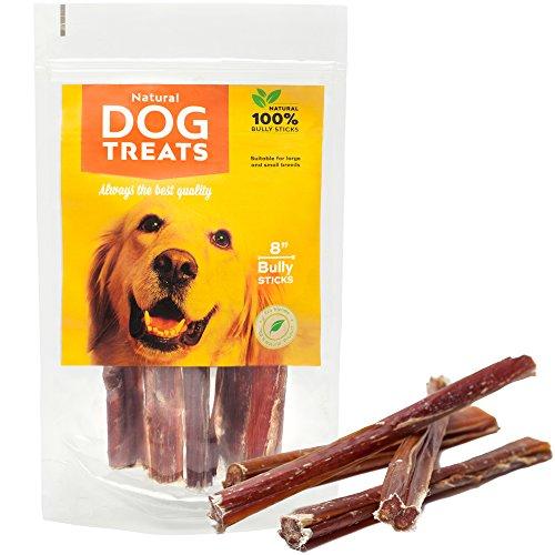 Ochsenziemer 20 cm für Hunde, 100% Natürlich Getrocknet Rinderkopfhaut Kauartikel, 5 Stück