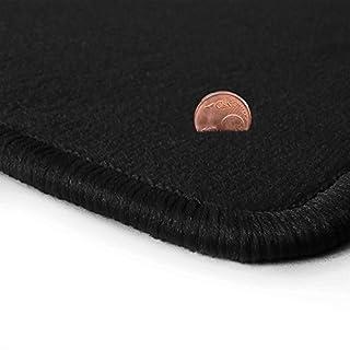 Schwarze Velours Fußmatten in Top-Qualität, Randfarbe Schwarz OFM-Q300_R300_00185
