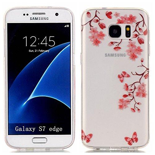 Coque pour Samsung Galaxy S7 Edge, Etui pour Samsung Galaxy S7 Edge,Cozy Hut® Transparente Ultra Mince Souple TPU Silicone Avec Saut Pingouin Dessin Etui Housse de Protection Coque Étui Case Cover pour Samsung Galaxy S7 Edge pas cher
