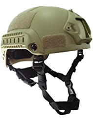 Worldshopping4U estilo mich 2001–Casco de combate con Side Rail y NVG Mount (de) para Táctica Militar Deportes de Airsoft Paintball Caza