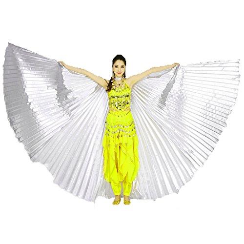 Calcifer® Marke neue Ägyptische Ägypten Belly Dance Flügel Isis Flügel Kostüm Geschenk für Big Party Weihnachten, silber (Party Kostüm Internationalen Versand)