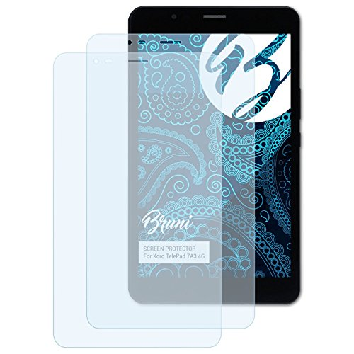 Bruni Schutzfolie für Xoro TelePad 7A3 4G Folie, glasklare Bildschirmschutzfolie (2X)