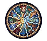 Wdarts Diamond Painting 5D DIY Full drill incollato Wall Stickers mandala kit ricamo a punto croce di artigianato, Sun God Zodiac, 60 x 60 cm