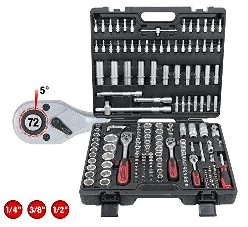Steckschlüsselsatz : KS Tools 917.0779 1/4″ + 3/8″ + 1/2″ Steckschlüssel-Satz, 179-tlg.