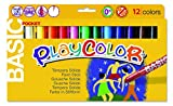 Playcolor 421981 - Pack de 12 temperas solidas, multicolor