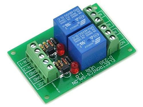 Electronics-Salon deux SPDT Module de relais de puissance DC 48 V, 10A Bobine de 250 VAC/30 Vdc du Conseil.