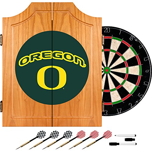 Trademark Gameroom University of Oregon Holz-Dart-Schrank Set