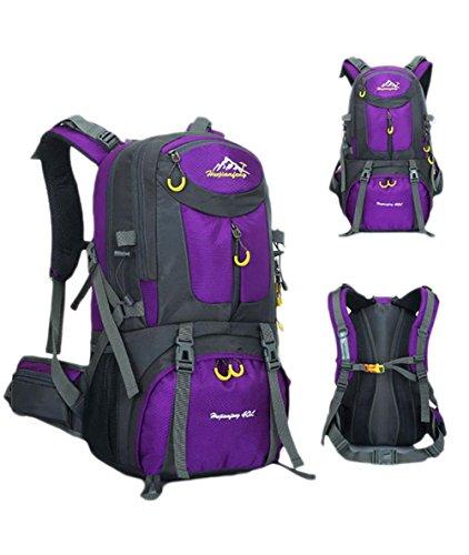 50L 40L Zaino Outdoor borsa sportiva viaggio zaino trekking in bicicletta il sacchetto impermeabile Arrampicata Zaino , orange 50l purple 50l
