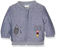 Mamas & Papas Baby Girls 0-24m Chambray Quilted Bomber Jacket, Blue, 2-3 Years