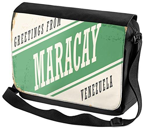 LEotiE SINCE 2004 Umhänge Schulter Tasche Retro Metropole Maracay Venezuela bedruckt