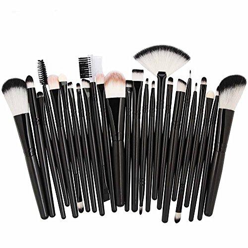YSFWL 25Pc Kosmetik Make-Up Pinsel Rouge Lidschatten Set Kit Pinselset Hochwertige Augen Beauty...