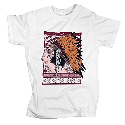 ZDesign Native Beauty Pocahontas | T-Shirt | Größe XS-4XL | Ideales Geschenk Weiß