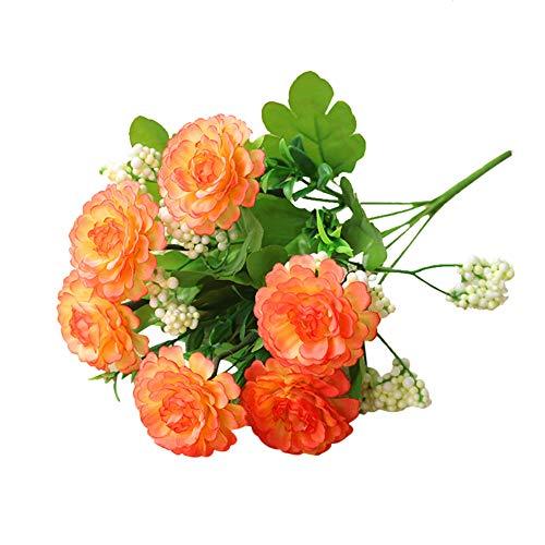 yosemite 1 stück mehrere farbe bouquet künstliche blume diy garten bühnenfest hause hochzeit festival handwerk decor Orange (Mittelstücke Geburtstagsfeiern Blume Für)