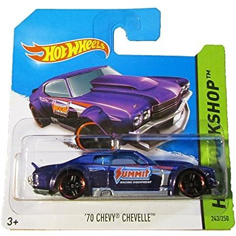 Hot Wheels - HW Workshop 243/250 - '70 Chevy Chevelle on Short Card by Mattel - 70 Chevy Chevelle