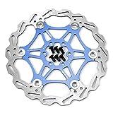 180mm Fahrrad Scheibenbremse Bremsscheibe MTB Scheibenbremse blau
