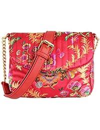 London Rag Women's Floral Printed Red Sling Bag